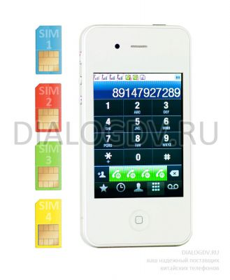 iPhone 4S Quattro White